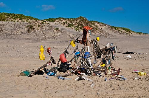 Padre Island trash - Larry Johnson