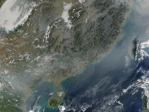 Pollution over China - NASA