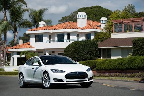 Model S White - Tesla Motors