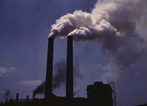 Smoke stacks - Alfred Palmer