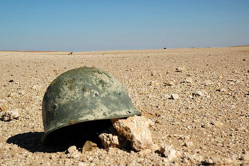 Helmet in Iraq's desert - pdud1 @ Flickr