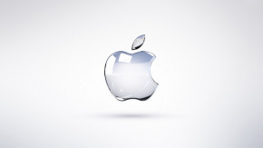 Apple logo - victoria white2010