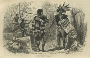 Dayaks in their war dress - F. Boyle