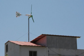 Rooftop residential wind turbine - TechnoSpin Inc