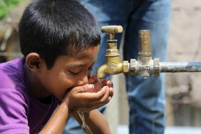 Boy drinking water - Dept of Foreign Affairs and Trade - Flickr