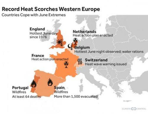 Panas Ekstrem Landa Eropa Barat