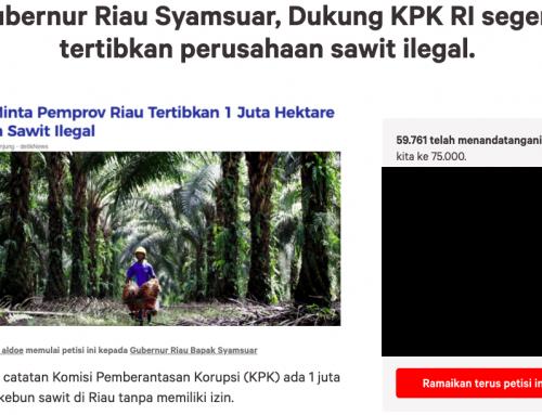 45 Ribu Warga Dukung KPK Tertibkan Sawit Ilegal